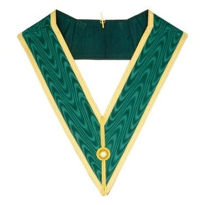 Masonic allied degrees grand undress collar in green