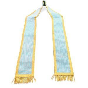 masonic craft irish provincial collar in light blue color