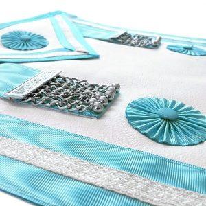 masonic craft west master dress apron with silver polished