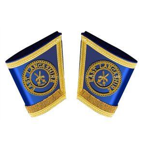 masonic craft provincial district guantlet set in royal blue