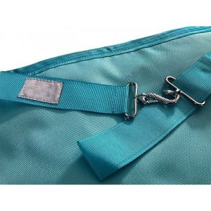 masonic craft worshipful apron in light blue color with snake enclosure