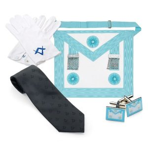masonic deluxe craft maste rmasons value pack including gloves, tie, cufflink and apron