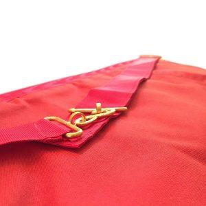 masonic irish Royal arch chapter members apron with golden snake enclosure