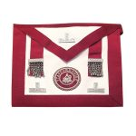 masonic stewards apron with silver polished jewel and badge